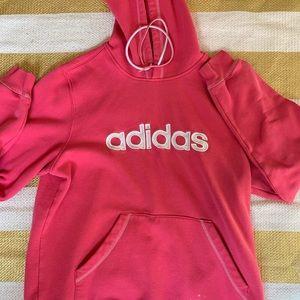 vintage adidas pink hoodie